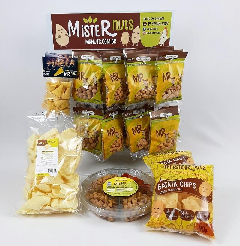 KIT 2 (CONTÉM: Batatas; Amendoins; Milho; Castanha de Cajú e Salgadinhos)