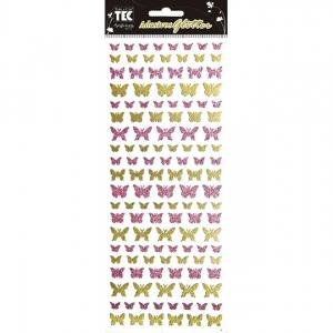 Adesivo Glitter Toke e Crie - Ref. 15305 - Mini Borboletas