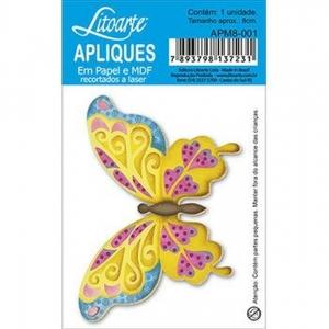 Aplique Litoarte Ref.Apm8-001 - Borboleta