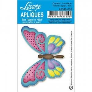 Aplique Litoarte Ref.Apm8-003 - Borboleta