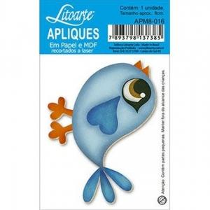 Aplique Litoarte Ref. Apm8-016 - Passarinho
