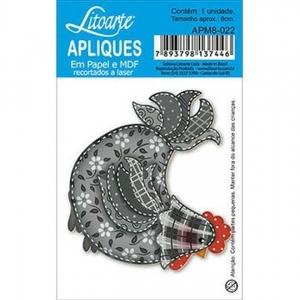 Aplique Litoarte Ref.Apm8-022 - Galo