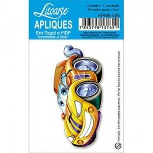 Aplique Litoarte Ref.Apm8-026 - Carro