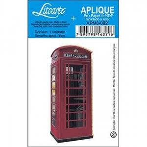 Aplique Litoarte Ref.Apm8-092 - Cabine Telefonica