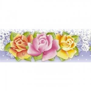 Barra Adesiva Litoarte Ref.Ba1-Iv-034 - Rosas Coloridas