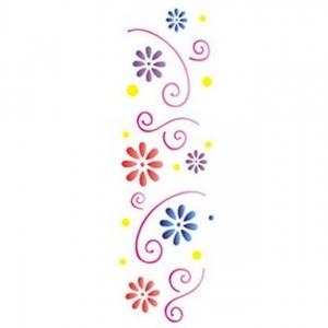 Stencil OPA 10x30 Flores Princesas (OPA731)