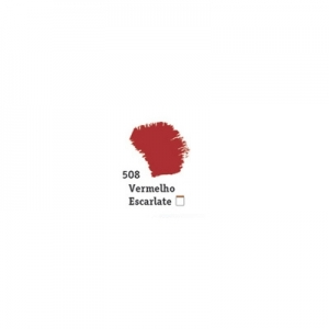 Tinta Acrílica Fosca Acrilex 60Ml - Vermelho Escarlate