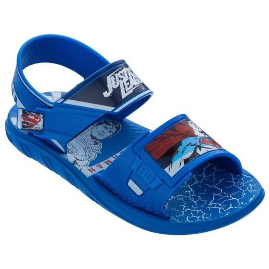 Sandália Superman Stong Grendene Azul