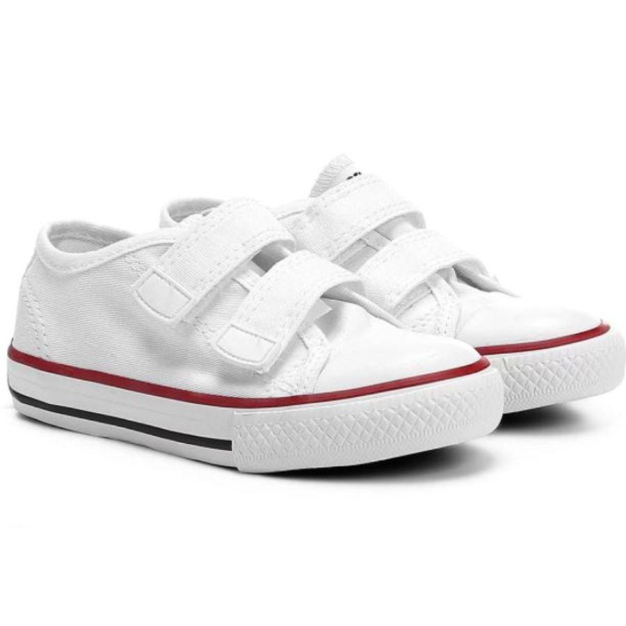 Tênis Couro Velcro Diversão Branco