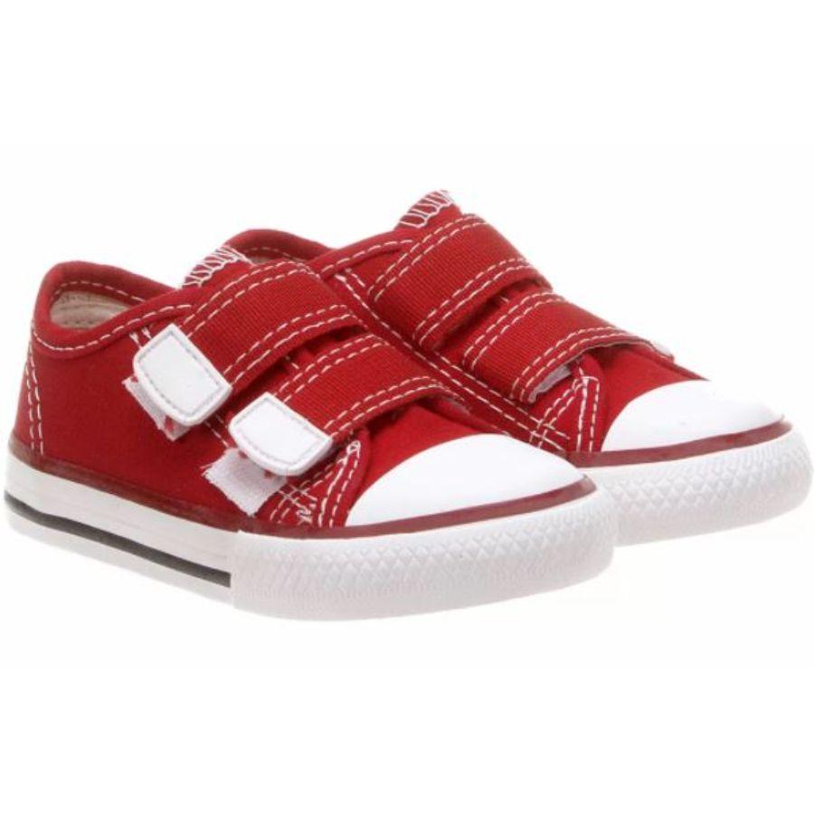 Tênis Lona Velcro Diversão Vermelho