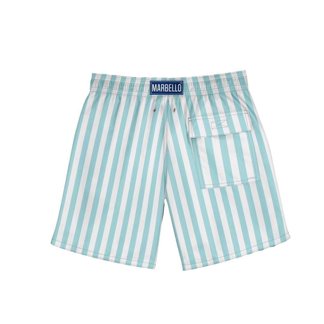 Shorts Stripes Turquesa