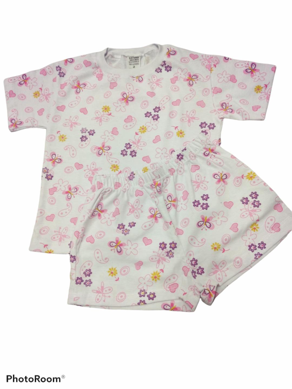 Pijama menina primavera verão