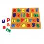 Brinquedo Didático Educativo Madeira  Encaixar Alfabeto