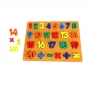 Brinquedo Didático Educativo Madeira Encaixar Números