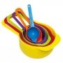 Colheres Medidoras de Alimento Jogo 6 Peças Colorido