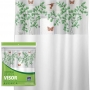 Cortina Box Banheiro 1,35x2,00 C/ Visor E Ganchos - Avenca