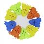 Kit 9 Prendedor De Plástico Para Embalagens Abertas Colorido