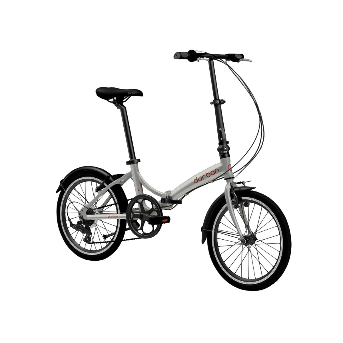 Bicicleta Dobrável Durban Aro 20 Aço 6 Velocidade Rio Prata