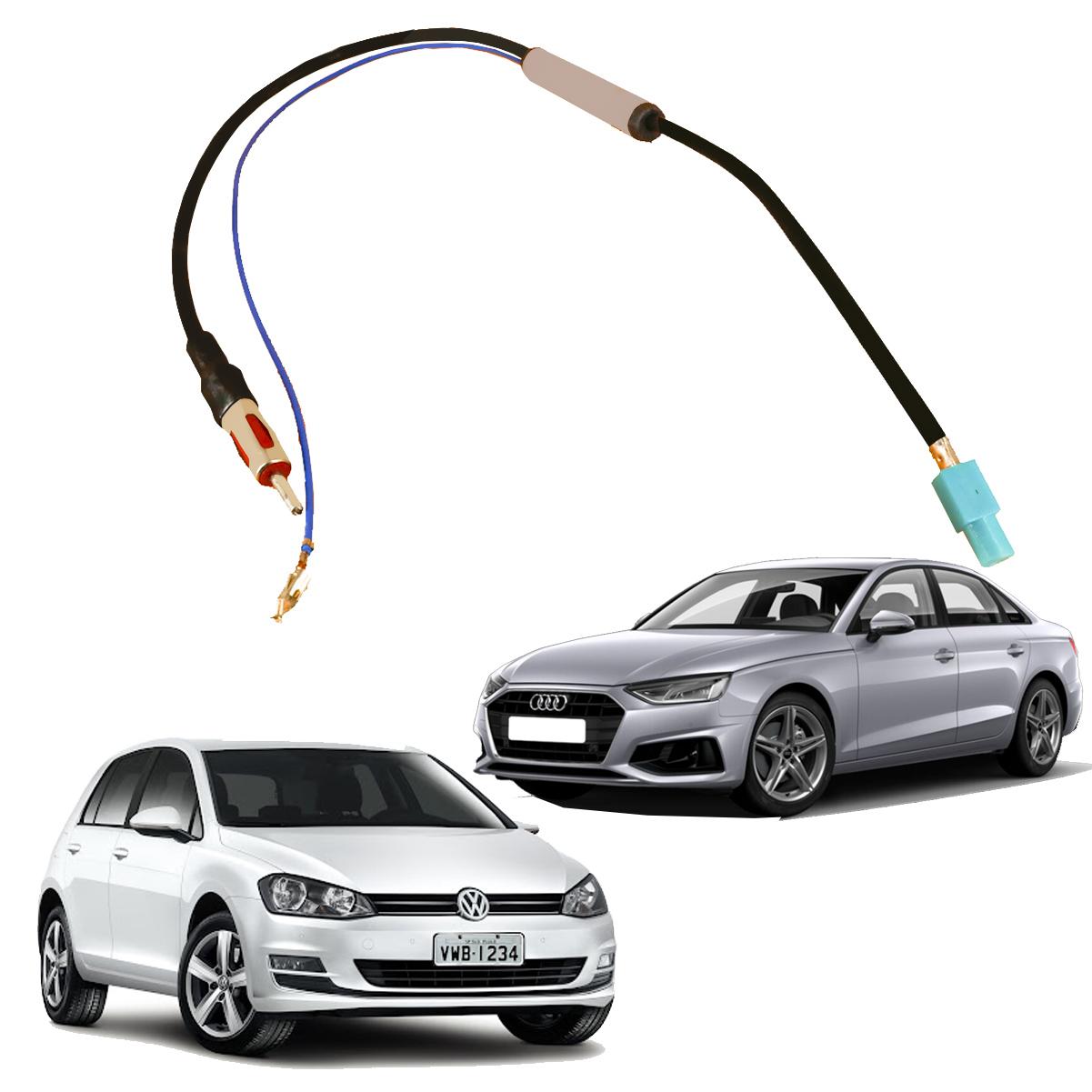 Cabo Antena Plug Adaptador Radio Amplificado Vw/ Audi