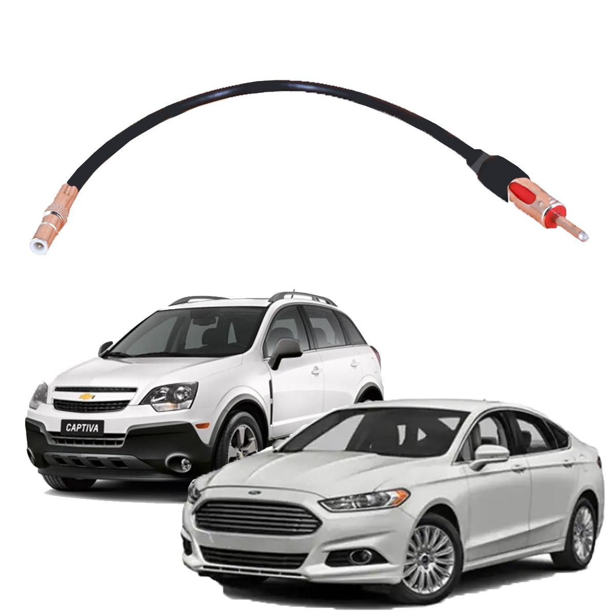 Cabo Antena Plug Adaptador Radio Ford Fusion/ Gm/ Capitiva