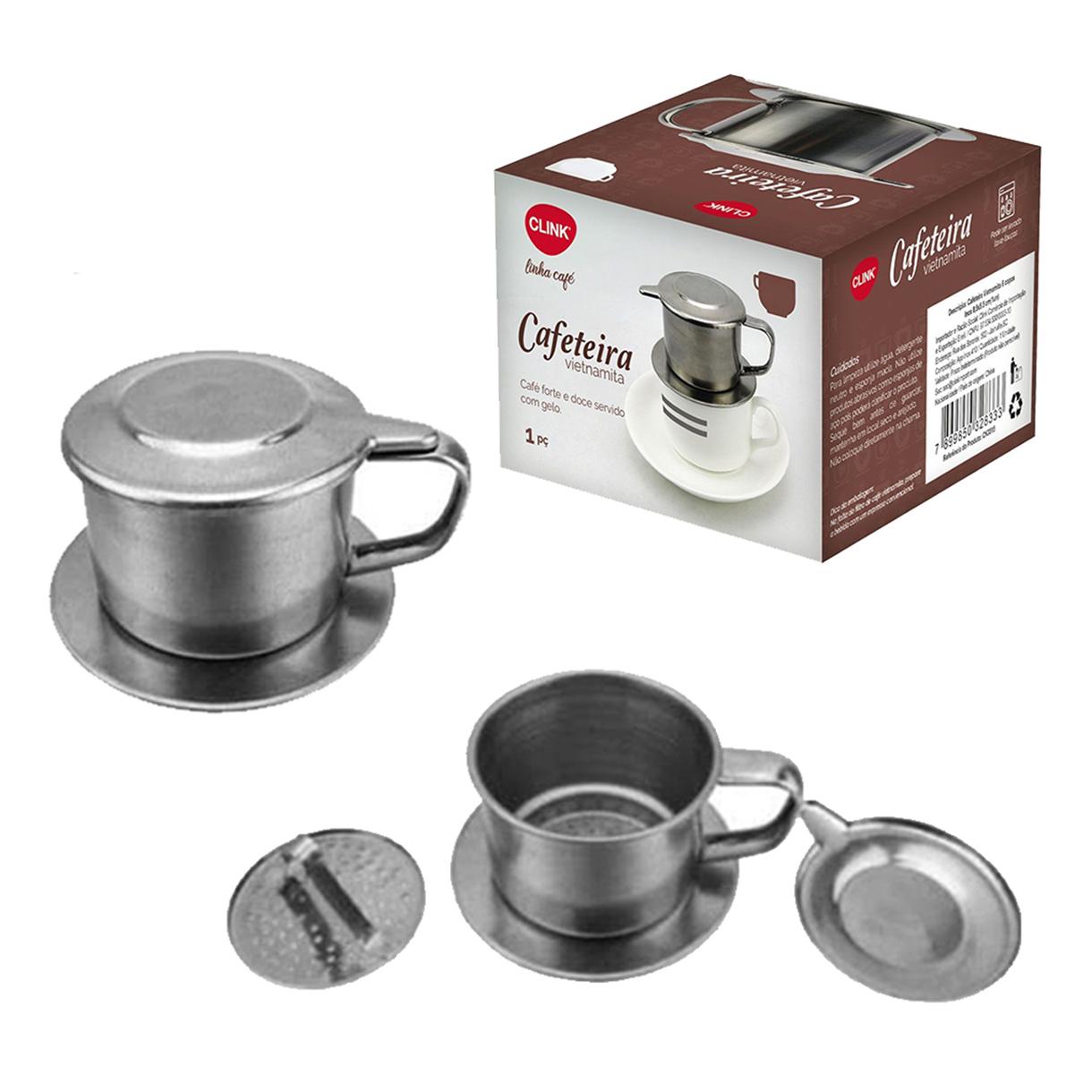 Cafeteira Café Vietnamita Clink 1 a 2 Copos Aço Inox