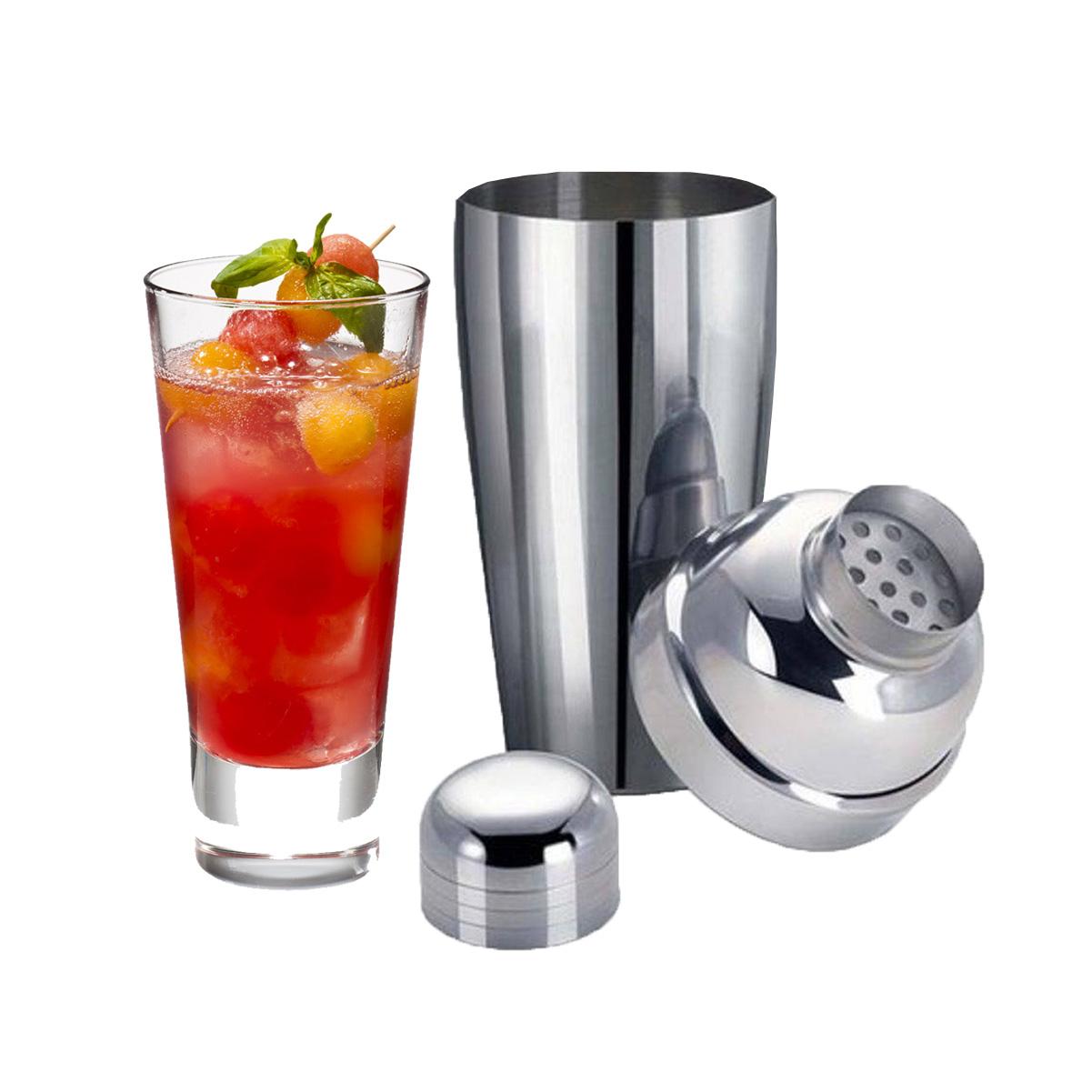 Coqueteleira 3 peças Inox 500ml Drinks Caipirinha Bar