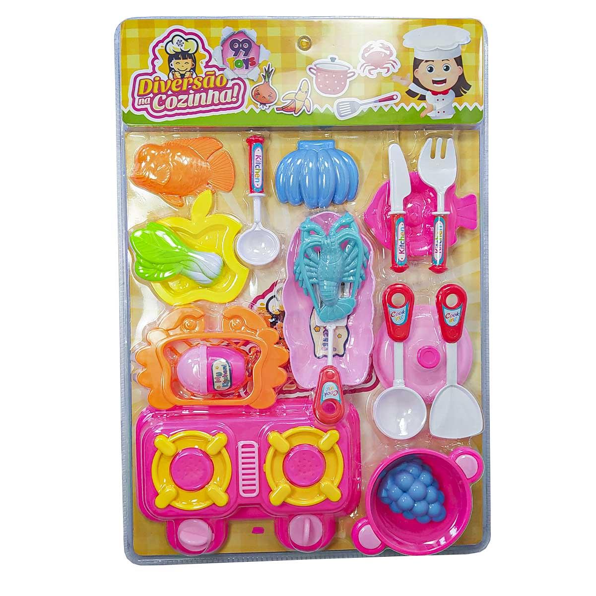 Kit Cozinha Brinquedo Com 19 Itens Criança Diversão
