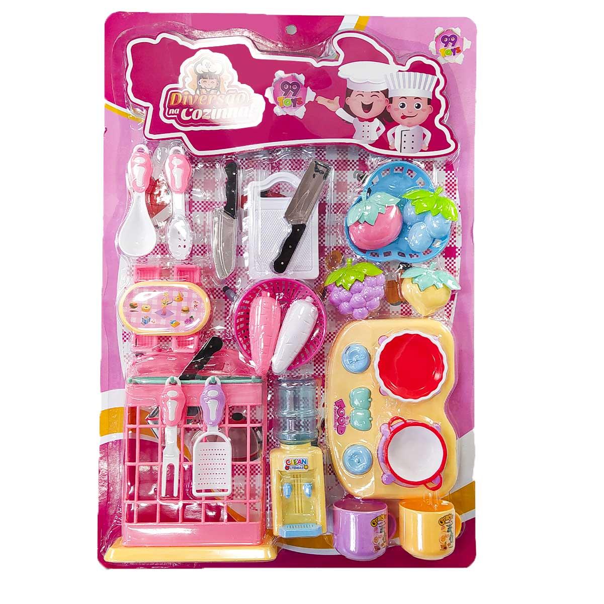 Kit Cozinha Brinquedo Com 28 Itens Criança Diversão