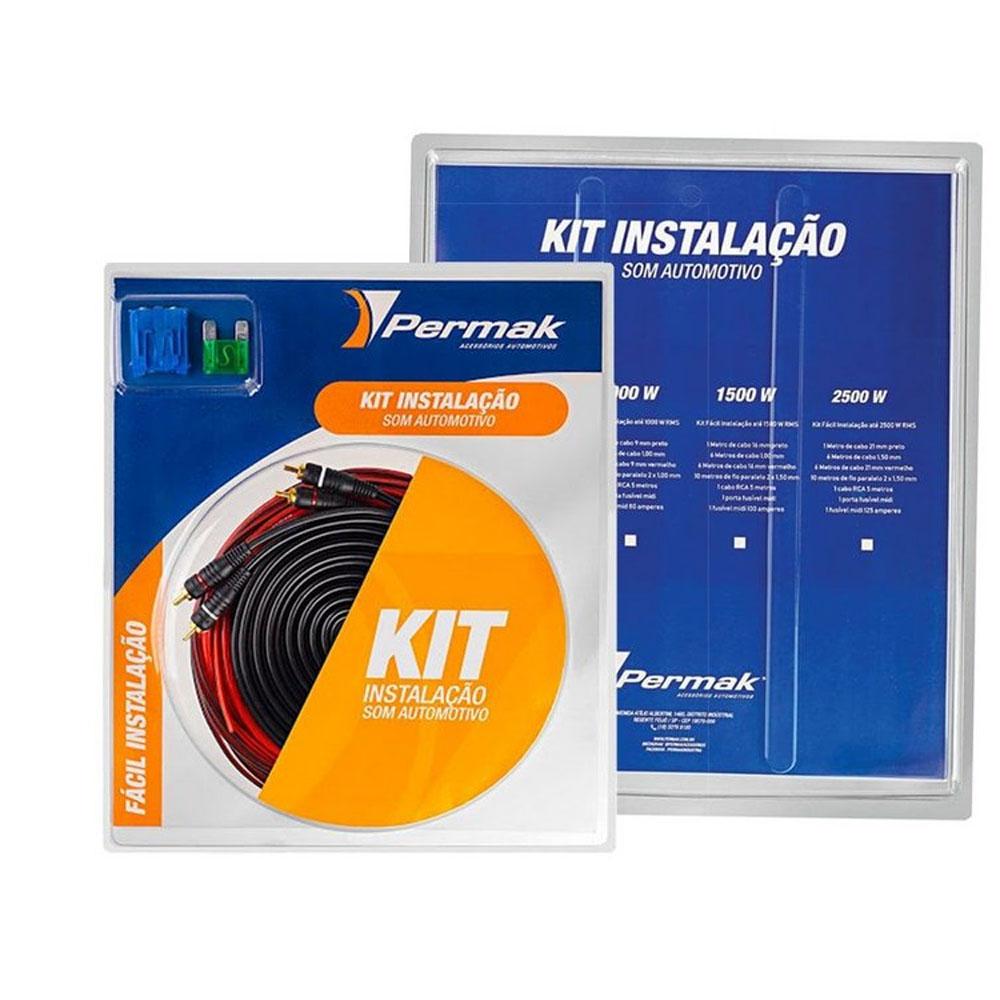 Kit Fiação Instalação Som Automotivo Módulo  Até 500 Wrms