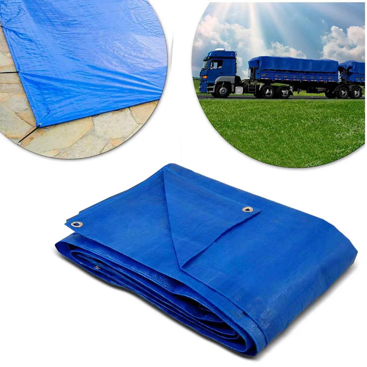 Lona Plástica 7,5x6m Impermeável Reforçado 70gsm Importway