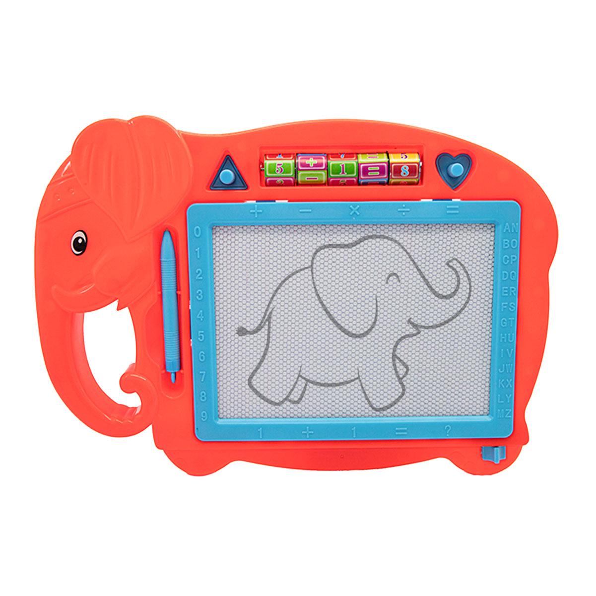 Lousa Mágica Magnética Infantil Com Caneta  Carimbo Elefante