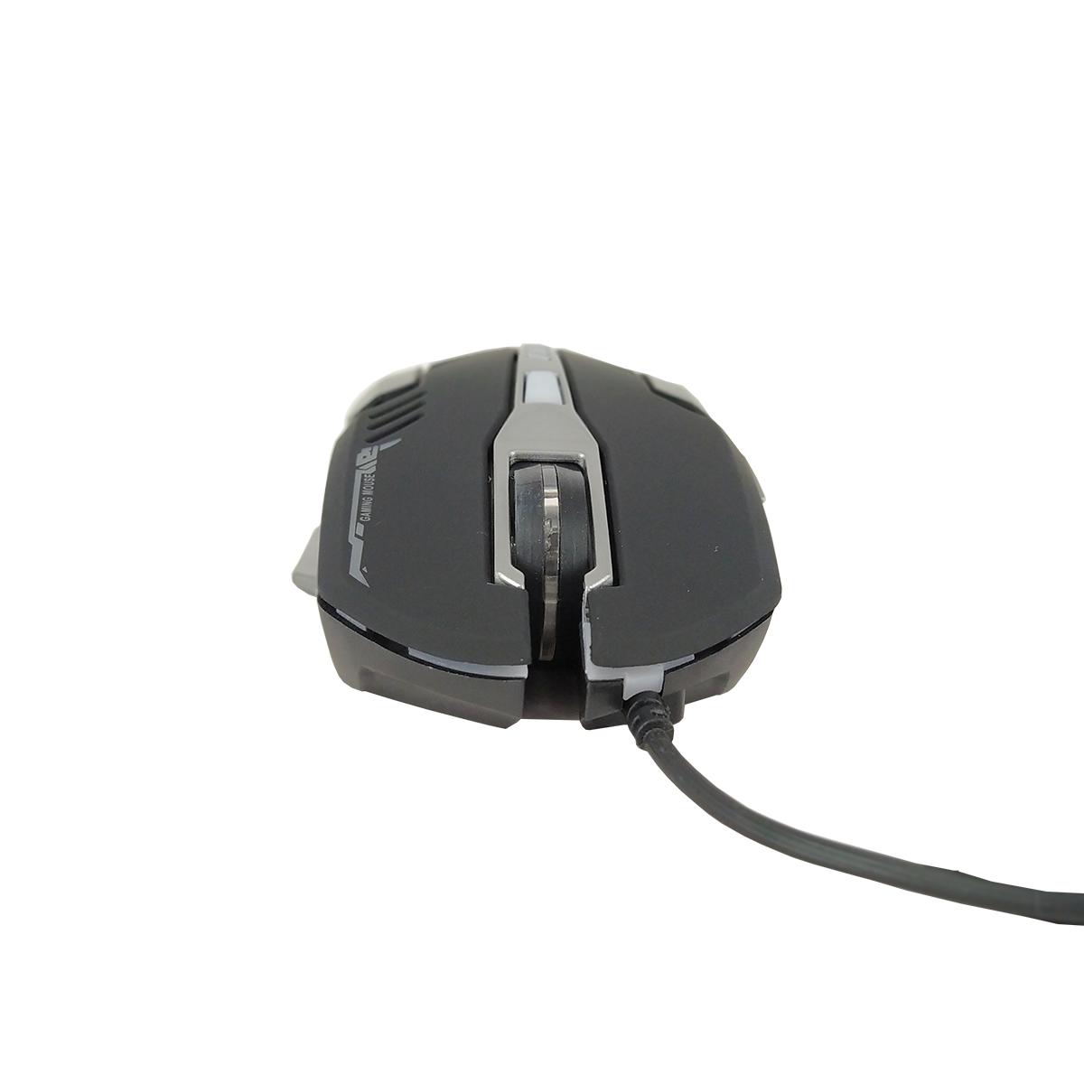 Mouse Gamer Multilaser 2400 Dpi Com 6 Botões Ergonômico Led