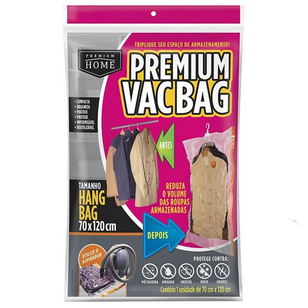 Saco À Vácuo Com Cabide Organizador Premium Hang Bag  70x120