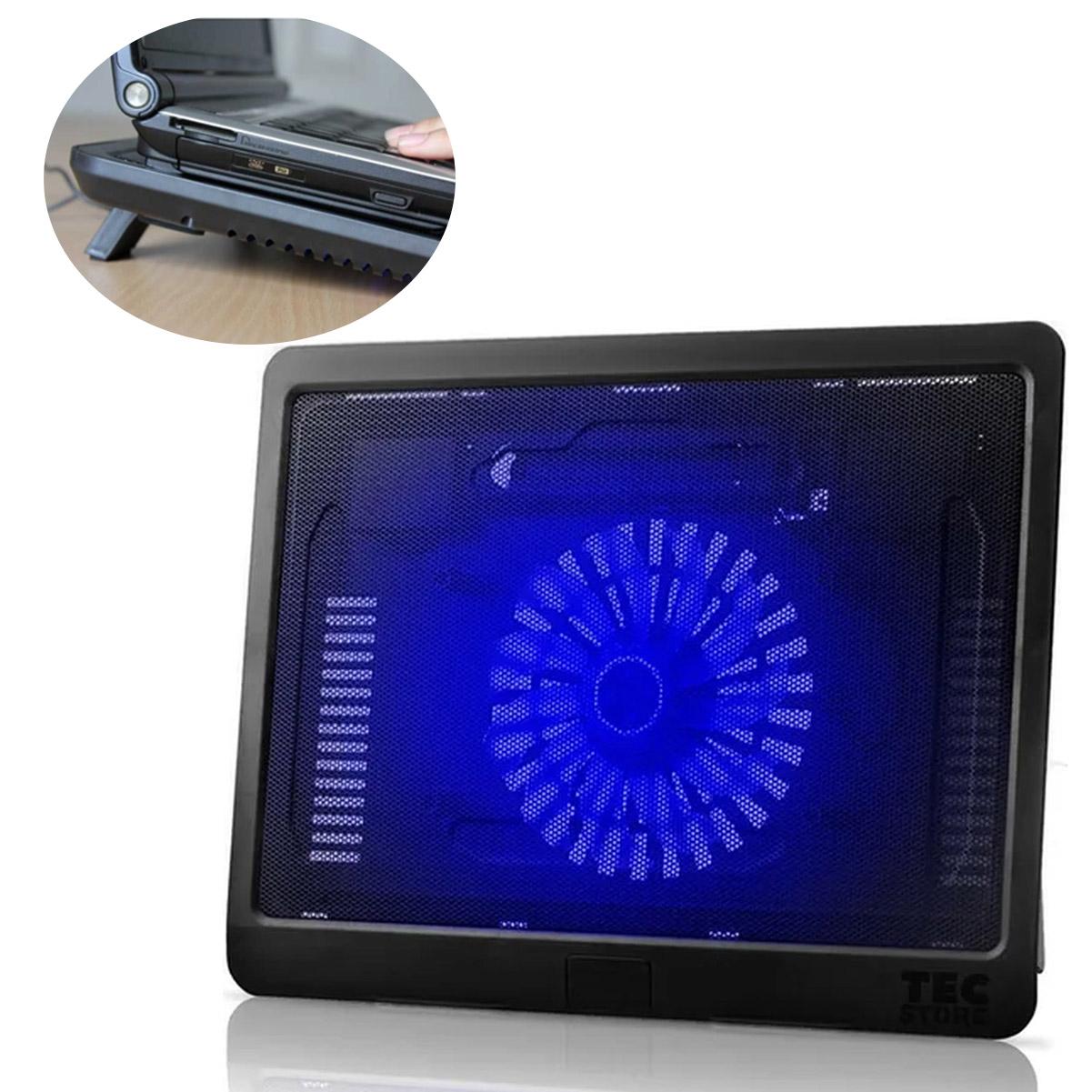 Suporte Base Notebook Cooler Led Ventilação Apoio Mesa Usb