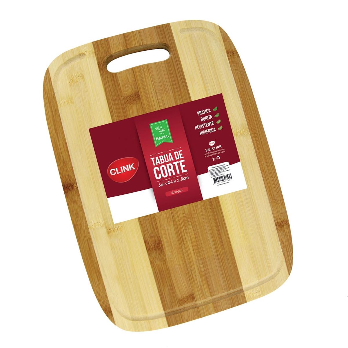 Tábua De Corte Carne Madeira Bambu Churrasco Pegador 34x24cm
