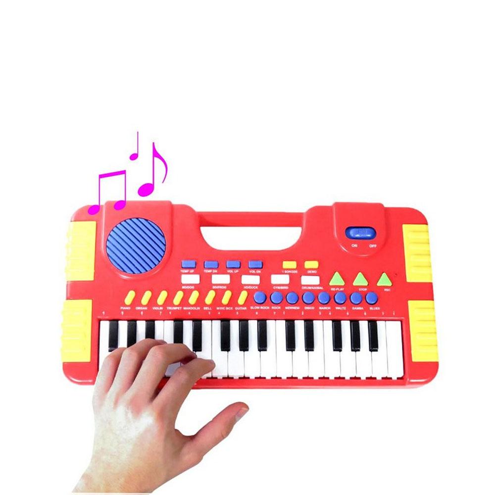 Teclado Musical Infantil 31 Teclas Piano Grava E Reproduz