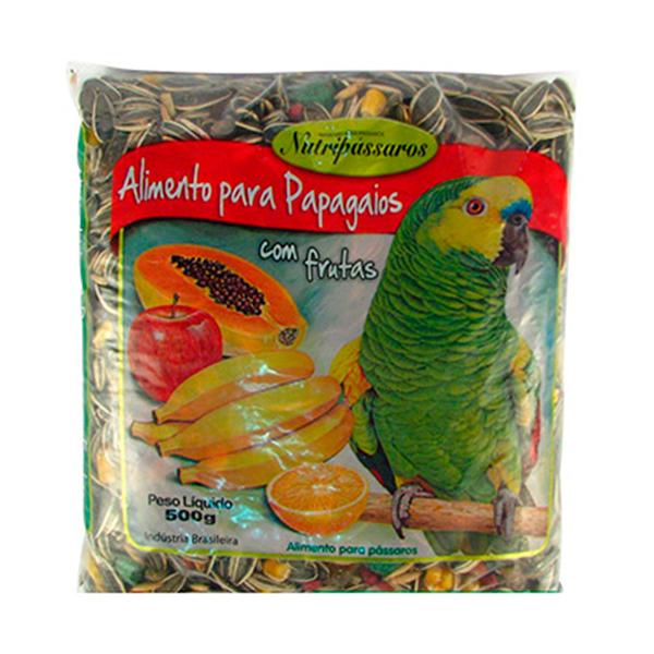 Alimento para Papagaios Nutripássaros com Frutas 500g