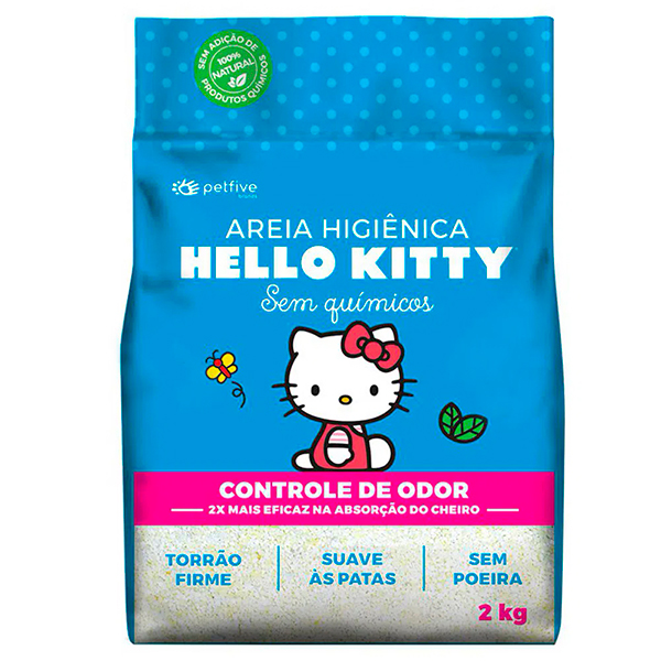 Areia Higiênica Hello Kitty para Gatos - 2kg