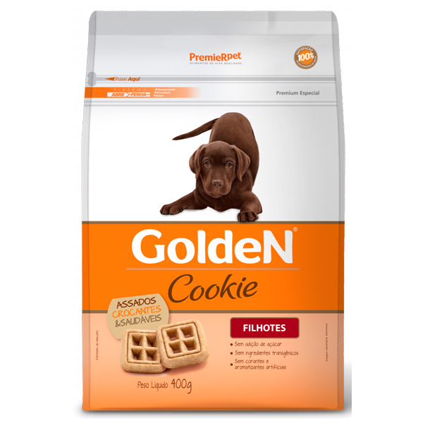 Biscoito Golden Cookie Cães Filhotes 400g