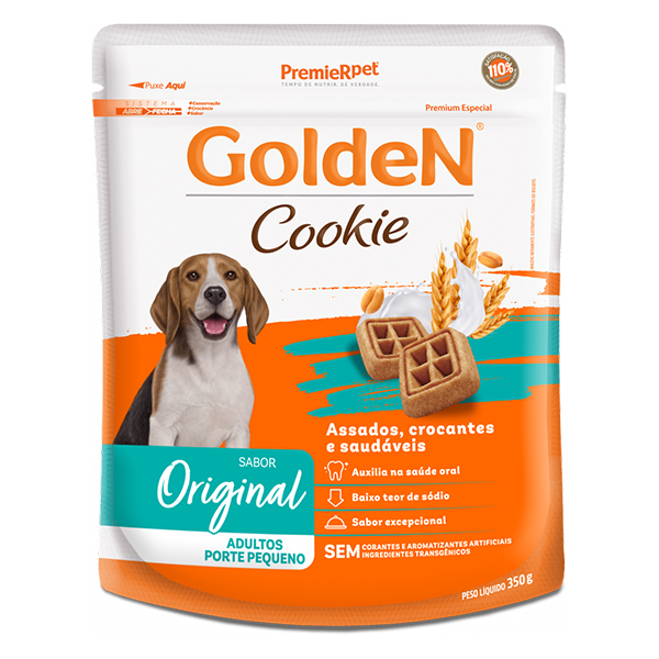 Biscoito Golden Cookie para Cães Adultos de Pequeno Porte 350g