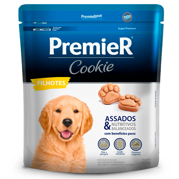 Biscoito Premier Cookie Cães Filhotes 250g