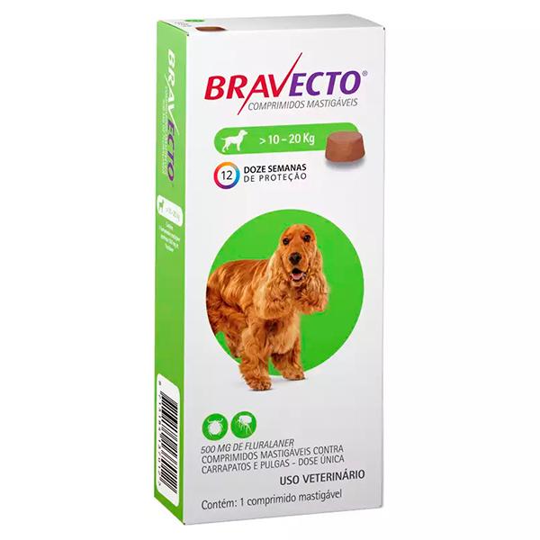 Bravecto - Antipulgas e Carrapatos Para Cães De 10 à 20Kg + BRINDES (FRETE GRÁTIS)
