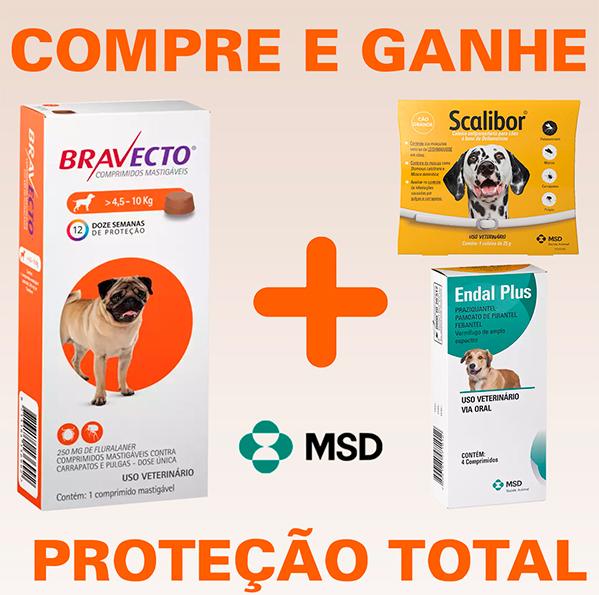 Bravecto - Antipulgas e Carrapatos Para Cães De 4,5 à 10Kg + BRINDES (FRETE GRÁTIS)