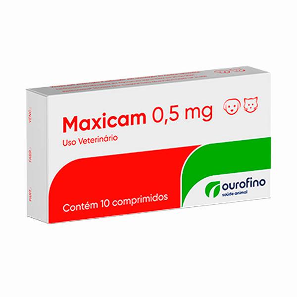 Maxicam Ourofino 0,5mg - C/ 10 Comprimidos
