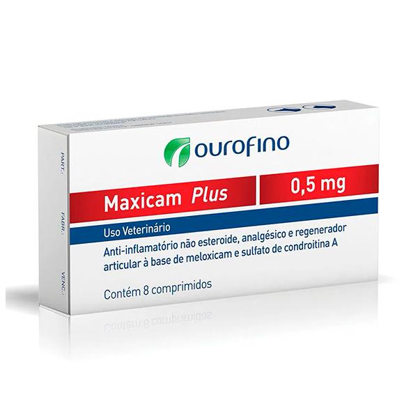 Maxicam Plus Ourofino 0,5mg  - C/ 8 Comprimidos