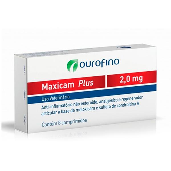 Maxicam Plus Ourofino 2mg - C/ 8 Comprimidos