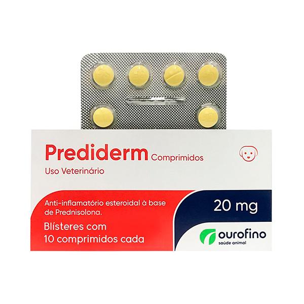 Prediderm Ourofino 20mg - C/ 10 Comprimidos (Blister)