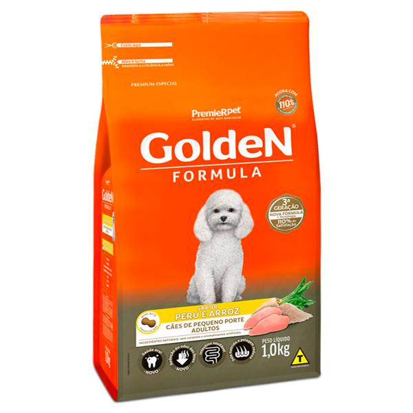Ração Golden Fórmula Cães Adultos Pequeno Porte Mini Bits Peru e Arroz