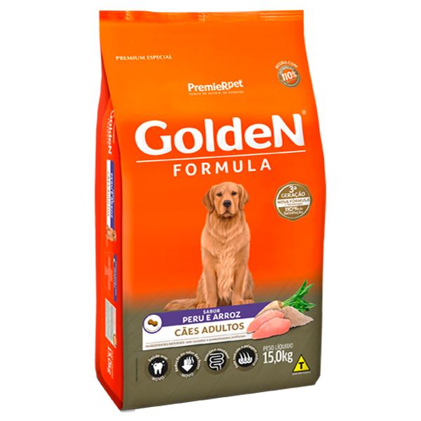 Ração Golden Fórmula para Cães Adultos Sabor Peru e Arroz - 15kg