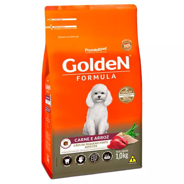Ração Golden Fórmula Mini Bits Cães Adultos Pequeno Porte Carne e Arroz